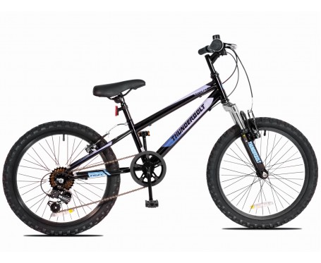 """24"""" Thunderbolt FS Wheel Boys Bicycle 13"""" frame Boys 18 speed mountain Bike for ages 7 to 11 years old"""