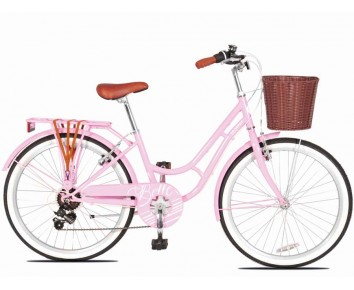 24″ Belle Pink Girls Bike suitable for 8 to 12 years