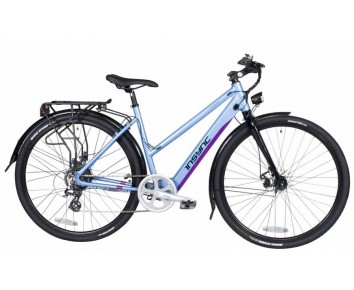"INSYNC TOWNMASTER 17"" LADIES 36V 250W ALUMINIUM ELECTRIC BIKE BLUE"