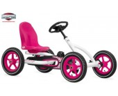 Berg Buddy Go Kart Girls Pink white for 3-8 years old