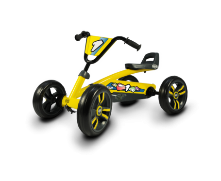 Berg Buzzy go Kart Yellow Go Kart for ages 2 to 5