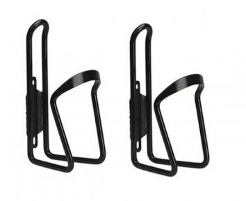 Alloy Black Bottle Cage with screws x 2