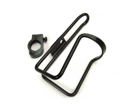 Handlebar mounted Alloy Bottle Cage in Black