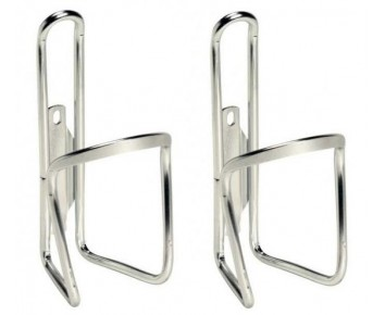 Alloy Silver Bottle Cage Pair