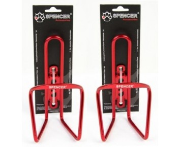 ALLOY BOTTLE CAGE RED WITH SCREWS X 2