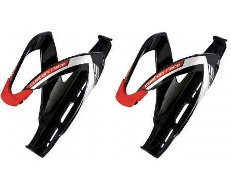 Elite Custom Race Bottle Cage Black/Red