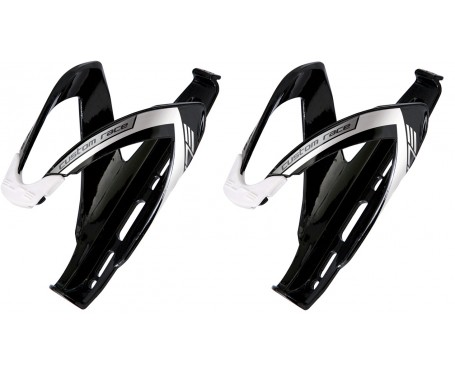 Elite Custom Race Bottle Cage Black/White
