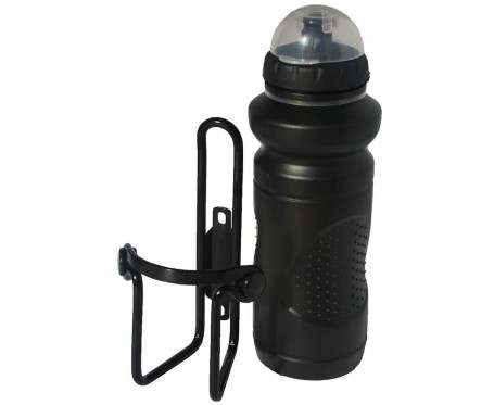 Cycle Water Bottle & Alloy Cage - Black