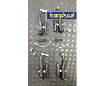 Alloy Bike V brake set inc pipes, brake blocks, Allen Key Type Black Alloy