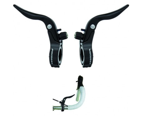 Promax Inline Cycle Cross Brake Levers 31.8mm Clamp 23.8mm insert Black