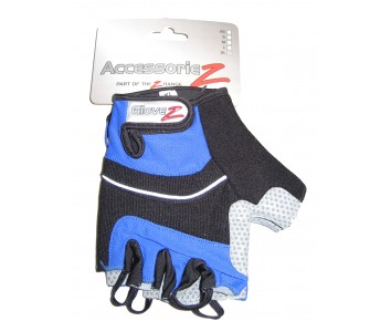 Cycle Mitts Fingerless Gel padded Accessoriez Blue