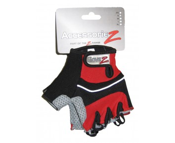 Cycle Mitts Fingerless Gel padded Accessoriez Red