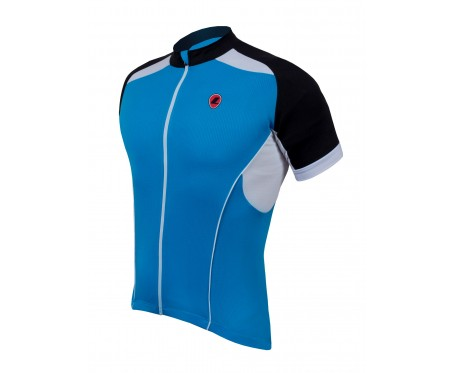 Lusso Linea Short Sleeved Jersey – Blue Large