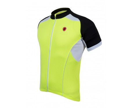 Lusso Linea Short Sleeved Jersey – Yellow X Large