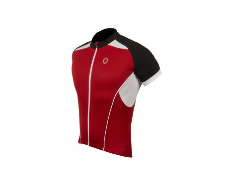 Lusso Linea Short Sleeved Jersey – Red Medium