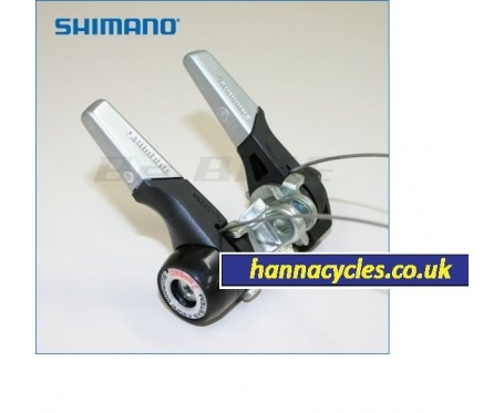 Shimano Gear Lever 7 speed road race bike Pair stem fit clamp Vintage