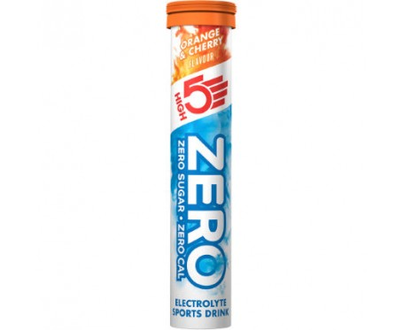 High5 Orange and Cherry flavour electrolyte drink with Zero calories