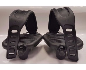 Exercise Bike Pedals Adjustable Straps 9/16 inch Gym Bicycle Cycle