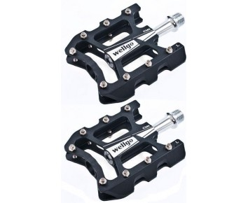 "9/16"" Wellgo Lightweight Anodised Alloy CNC machined Mountain Bike Pedals"
