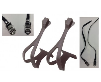 Raleigh Road Bike Race Large Moulded Pedal Toe Clips complete With Nylon Straps