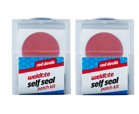 Red Devils Self Seal Patch Kit Pack includes 6 Red Devil patches x 2