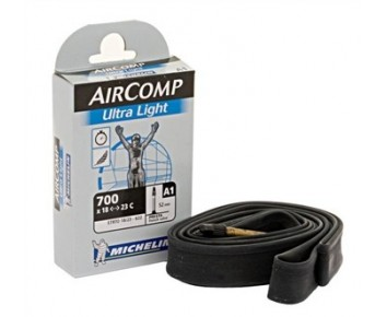 700x18-23c 52mm long valve Michelin AirComp UltraLight tube