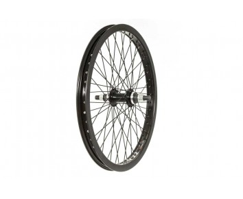 "20"" REAR BMX WHEEL 48 spoke 14MM AXLE BLACK"