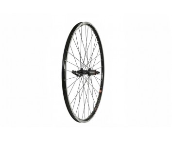 700C Road REAR WHEEL  MACH1 240 RIM  BLACK  SHIMANO 8/9 Speed CASSETTE