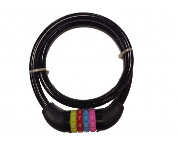 Combination lock & cable Re-Settable Black 90cm x 12mm Bike Bicycle Cycle