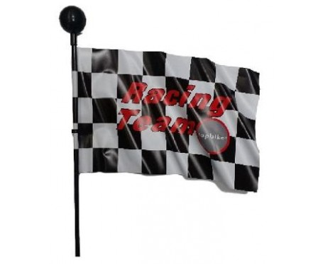 Chequered Flag for a childs bike Kids childrens bicycle hi-flyer go kart pendant