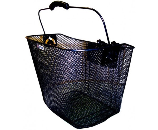Wire Mesh bicycle basket With Quick Release Bracket