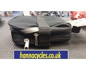 Saddle bag large black zip closure expandable