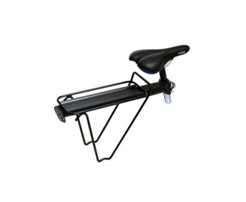 Quick release rear bicycle pannier for seatpost fitting