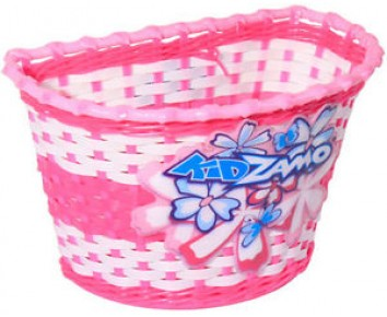 Pink Girls Flowers Bike Basket Kidzamo