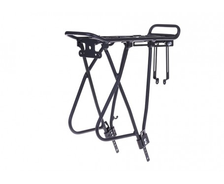 Alloy Rear bicycle Carrier with adjustable leg (Black) RSP Raleigh Pioneer