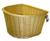 Vintage style wicker basket Traditional D shape