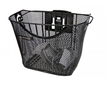 Large bicycle basket With Quick Release Bracket handle bar fitting