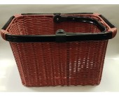 Bicycle basket Quick Release fitting Wicker Style