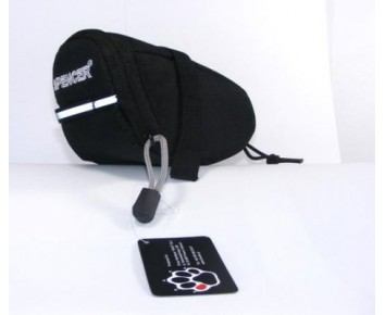 Bicycle saddle bag medium Black zip closure & reflective detailing