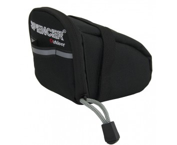 Bicycle saddle bag Small Black zip closure & reflective detailing