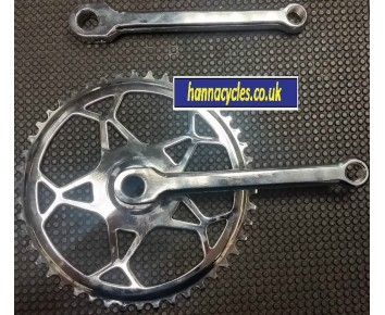 46T Chainset 1/2 x 1/8 Chrome Vintage Cottered + Left Hand Fixie