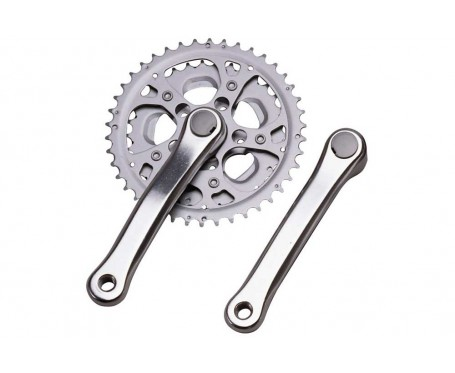 52/42T Chainset Polished Silver - Square Taper 170mm crank arms Chainwheel Raleigh