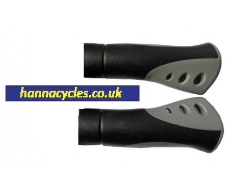 Hybrid bike grips dual density comfort profile