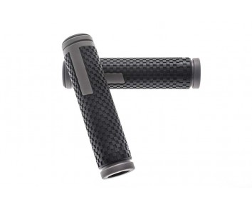 Handle bar grips Black and Grey 128 mm length Dual Density Kraton