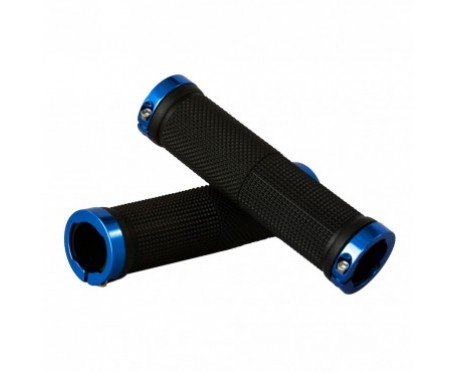 Tiger Lock-On Handlebar Grips Alloy - Blue