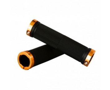 Tiger Lock-On Handlebar Grips Alloy - Gold