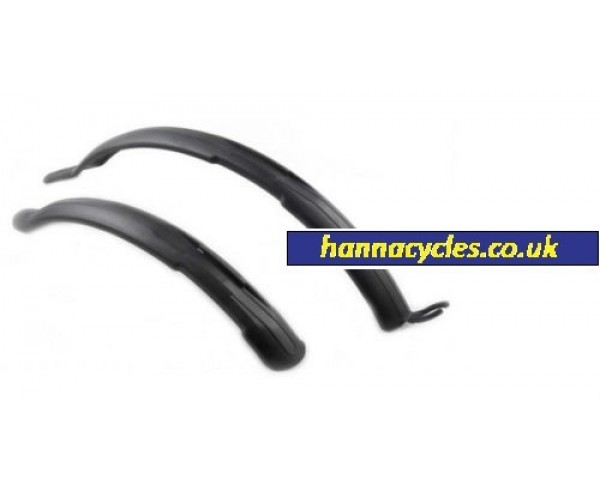 "Pair Bike Mudguards 26,27,28"" 650B & 700c wheel Mountain & Hybrid bicycle Clip-On Quick Release"