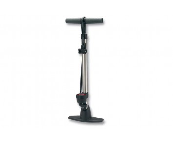 Alloy Floor-Track Pump + Gauge + Dual Head