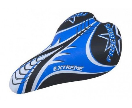"Blue / Black Childs Saddle (suits most 16"" to 24"" wheel bikes)"