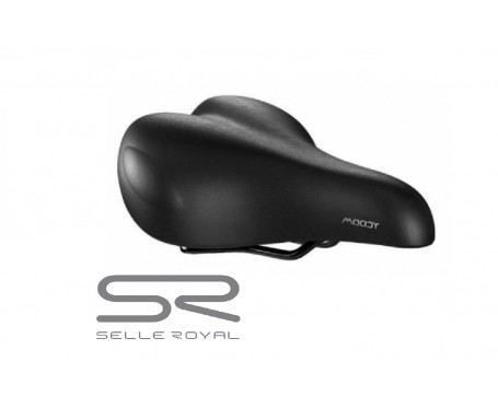 Bicycle saddle Unisex Selle Royal Moody + Royal Gel reduce pressure by 40% bike